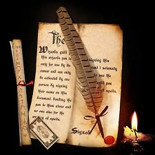 Harry Potter / Hogwarts style Spellwriting Quill pen (No Mess Ballpoint Nib)