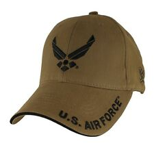 U.S. Air Force Wings Hat - USAF Coyote Brown Baseball Cap 6645
