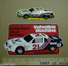 1983 Ford Thunderbird Buddy Baker Valvoline Wood Brothers photo sticker decals