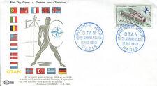 FRANCE FDC - 322 1228 1 10 ANS DE L'OTAN 12 12 1959