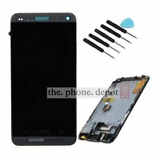 Full LCD Display Touch Screen Digitizer Frame Assembly For HTC One 801e M7 Black