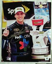 DENNY HAMLIN SIGNED AUTOGRAPH 8x10 NASCAR RACING PHOTO SMC COA & GA COA