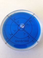Blue Bullseye Spirit Level Large Round Circular Bubble Vial 65mm Caravan