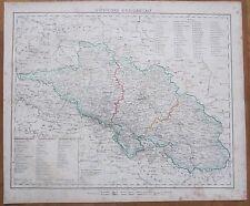Sohr / Berghaus: Large Map Poland Wroclaw Silesia - 1853