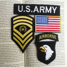 U.S. Army 101st Airborne Division Military Rank Flag SETS Hook VELCRO PATCH