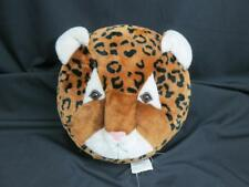 LEOPARD PRINT THROW PILLOW CUSHION PLASTIC EYES NOSE PLUSH SOFT DECORATION TOY