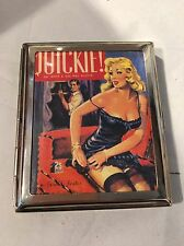 Vintage Style Cigarette Tin Case Retro Pin Up Quickie Gerald Foster Novel Book