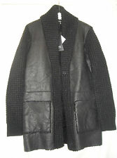 CNC - COSTUME NATIONAL - LADIES WOOL AND LEATHER COAT - SIZE UK 10 ITALY 42 NWT