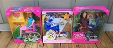 3 NEW NRFB Barbie Becky Doll Lot: Photo; Share a Smile; Paralympic Wheelchair