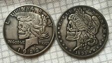 Rare 1922-1893 Silver Clad Coin- Peace Liberty Morgan Toned Dollar- Most Popular