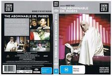 *THE ABOMINABLE DR. PHIBES*,  DVD,  HORROR,   VINCENT PRICE,  CINEMA CULT