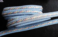 Blue Pink Yellow Twisted Cord Trim 3/8 Inch wide selling by the yard