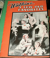 "WATKINS ""A FEW OLD FAVORITES"" SONG BOOK PROMO AD WATKINS LINIMENT TESTIMONIALS"