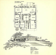eichler homes mid century post and beam floorplan POSTER - 20x24 SIZE POSTER