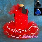 Beaded Girl Ballet Tutu w/ Arm Mitts Child Dance Costume Dress Size 2T-7 BA021