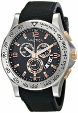 Nautica Men's NST 600 Sport Chronograph Tachymeter Black Watch - NAD19504G