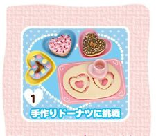 RE-MENT Heart Sweets #1-Sweetheart Donuts,1:6 for Barbie kitchen food miniatures