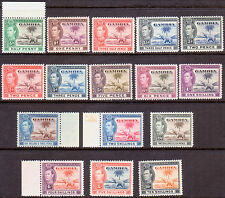 1938-46 GAMBIA SG 150-161 compl.set MNH OG CV £160