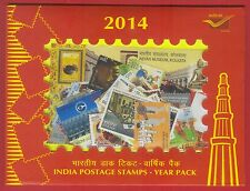 INDIA 2014 COMMEMORATIVE STAMPS COMPLETE POST OFFICE YEAR PACK MNH