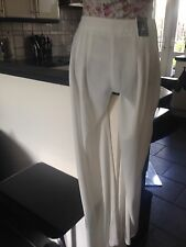 ATMOSPHERE SIZE 12 NWT CREAM TROUSERS FAB TROUSERS SUPER CONFORTABLE  HANG GREAT