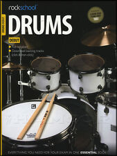 Rockschool Drums Debut Grade 2012-2018 Exam Sheet Music Book with Audio Access