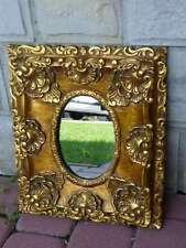 Francia Estilo Barroco pequeñas de Oro Espejo