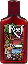 REEF DRY SUN TAN OIL COCONUT 125ML - SPF 30+ - tanning lotion oil - CHEAPEST