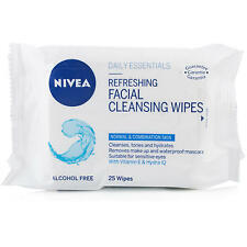 NIVEA DAILY ESSENTIALS REFRESHING FACIAL CLEANSING WIPES 25