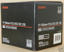 Sigma 17-50 mm F/2.8 EX DC OS HSM Lens For Nikon Free Shipping New from Japan