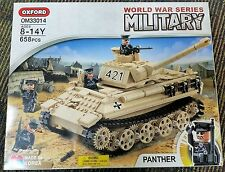 Oxford Building Block Model WWII Panther Tank FREE US SHIPPING