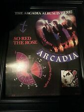 Arcadia Duran Duran So Red The Rose Rare Promo Poster Ad Framed! Printed Once!