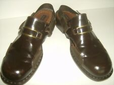 Todd Welsh Men's  Brown Leather Sandals. Made In Italy. Size 10.5 Unusual.