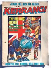 Vtg August 1984 No. 75 KERRANG MAGAZINE Music NEWS Jethro Tull KICK AXE