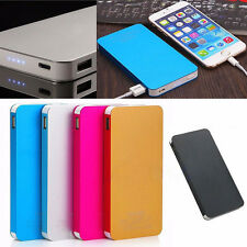 AU 50000mAh 2 USB External Power Bank Backup Battery Charger For Xiaomi Silver