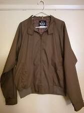 Vintage 1960's WOOLRICH Solid Brown Bomber Cruiser Jacket Plaid Lined Mens XL