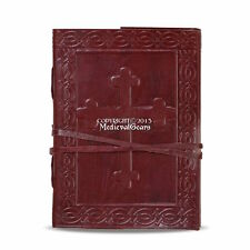 Handmade Celtic Cross Journal Book Bound in Leather Medieval Renaissance Daily
