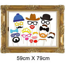 24pcs Picture Frame Photo Booth Props Party Wedding Decor Funny Faces Birthday