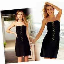 NeW=PARTY Body-illusion DRESS.S=10/12.BLACK+gold.HOLIDAY/wedding/CLUB?Sexy.AVON