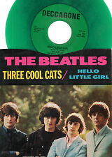 BEATLES-DECCAGONE-1100 (GREEN WAX)-THREE COOL CATS/HELLO LITTLE GIRL