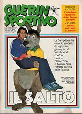 GUERIN SPORTIVO=N°28 1983=TABELLONE ILL.COPPE EUROPEE=ROD STEWART=BRASILE