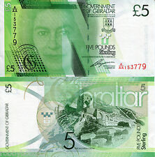 GIBRALTAR 5 Pounds Banknote World Paper Money UNC Currency BILL Note p35 Queen