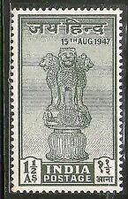 India 1947 Jai Hind Ashokan Lion Capital Phila-282 MNH