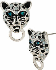 AUTHENTIC BETSEY JOHNSON WHITEOUT SNOW LEOPARD RING STUD NWT RETAIL $30