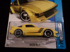HW HOT WHEELS 2014 HW CITY #21/250 MAZDA RX-7 HOTWHEELS YELLOW RACE TRACK READY