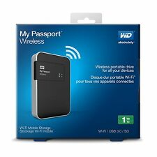 WD 1TB My Passport Wireless Portable External Hard Drive w/out SD- WIFI USB 3.0