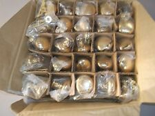 "25 SOLID BRASS CENTURY 1 3/16""ROUND CABINET KNOBS DRAWER PULLS WITH SCREWS"