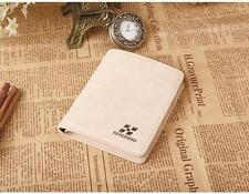 Men Leather ID credit Card holder Clutch Coin Purse Bifold Wallet Billfold 3