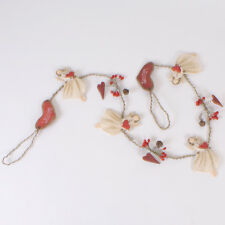Nordic Welcome Angel Christmas Garland with Hearts, Bells and Holly * Xmas Decor