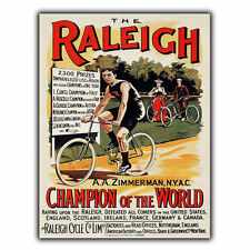 RALEIGH BICYCLES BIKES METAL SIGN WALL PLAQUE Vintage Advert art print 1930s