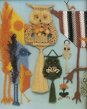 Macrame Owl Wall Hanging Patterns Macrame is for the Birds Craft Book #PD1054